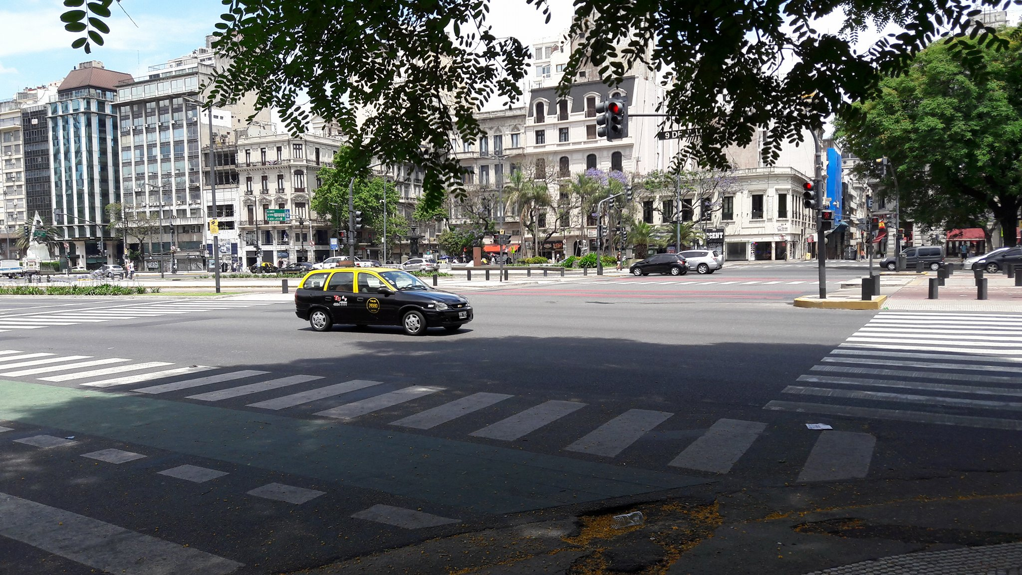 03.12.16 Avenida 9 de Julio ohne Verkehr